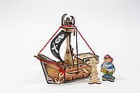 """Деревянный конструктор Woody - Пиратский корабль """"Карамба"""""""