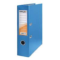 Папка-регистратор Delta одностор. PP 7,5 см, собран, голубой