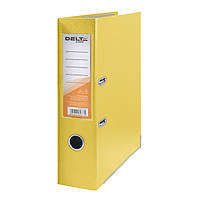 Папка-регистратор Delta одностор. PP 7,5 см, собран, желтый