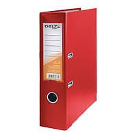 Папка-регистратор Delta одностор. PP 7,5 см, собран, красный
