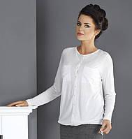 Женская блузка из вискозы белого цвета. Модель Oksana Top-Bis.