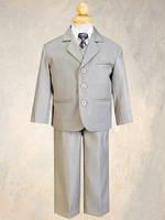 Нарядный костюм с рубашкой, жилетом и галстуком на мальчика 2-12 лет