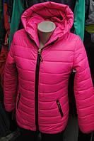 Женская зимняя куртка с ушками на капюшоне