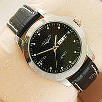Часы мужские наручные Longines Diamonds Silver/Black