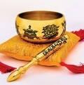 Фэн Шуй ритуалы.Поющая чаша с 8 благоприятными символами