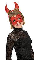 Блестящие маска и рожки дьявола