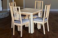 """Комплект обеденный """"Смарт 2 бук"""" из натурального дерева (стол + 4 стула)"""