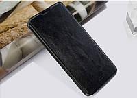 Кожаный чехол книжка MOFI для Lenovo IdeaPhone A8 Golden Warrior чёрный