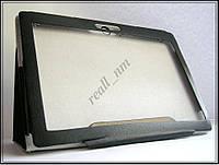 Черный кожаный чехол-книжка Folio Case для планшета Lenovo TAB 2 A10-70F A10-70L