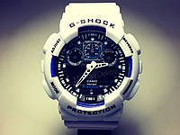 ЧАСЫ CASIO G-SHOCK GA-100   White Black Dial