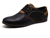 Спортивные туфли Falcon, мужские, натуральная кожа, черные, р. 45, фото 1