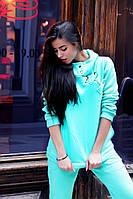 Модная женская спортивная кофта, худи бирюзовая, демисезонная