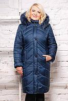 Женское зимнее пальто SP морская волна размеры 52-62