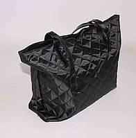 Текстильная черная сумка
