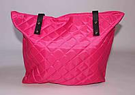Текстильная розовая сумка