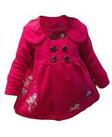 Детское трикотажное пальто для девочки