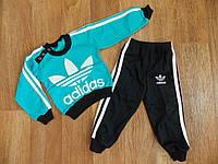"""Детский спортивный костюм """"Adidas"""", футер, рост от 80 до 110 см"""
