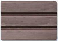 Панель соффит без перфорирования коричневая