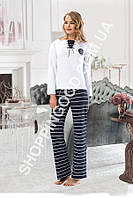 "Женская пижама Shirly 5907, домашний костюм с брюками ""Полоска"" цена со склада"
