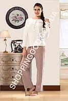 "Женская пижама Shirly 5910, домашний костюм с брюками ""Звезды"" цена со склада"