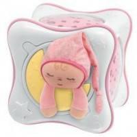 Ночник проектор радужный кубик Cube розовый Chicco 24301
