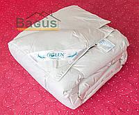 Одеяло пуховое 200Х220 климат-комфорт (100% пух серый) облегченное кассетное в немецком тике IGLEN 200220110G
