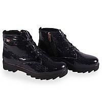 Модные женские ботинки (синые, лаковые, демисезонные, на каблуке, на шнуровках, на замке)