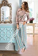 "Женская пижама Shirly 5912, домашний костюм с брюками ""Бабочка"" цена со склада"