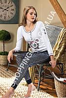 Женская пижама Shirly 5926, домашний костюм с лосинами цена со склада