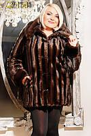 «Отличная женская шуба из эко-меха под норку со съемным капюшоном. Артикул: 214 »