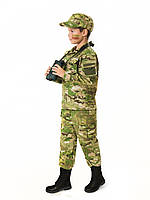 Костюм детский Киборг для мальчиков цвет камуфляж Мультикам копия военного костюма