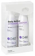 ERAYBA D42/D46 Набор STRAIGHT FACTOR Серия для выравнивания волос (шампунь 250 мл + кондиционер 250 мл)