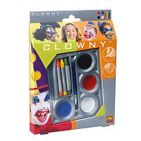 Набор для грима Маскарад краски, карандаши и кисточка
