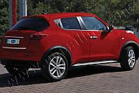 Хром молдинг стекла Nissan Juke (2010-) (ниссан жук), OMSALINE, 4шт. нерж