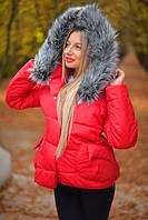 Женская молодежная куртка пуховик