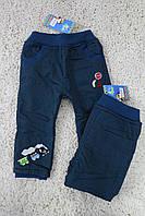 Утепленные котоновые брюки на флисе 1- год