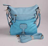 Голубая женская сумка - планшет Gernas