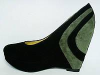 Туфли замшевые на танкетке Welfare 1410803