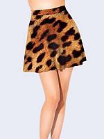 Женская  Юбка-клеш Леопардовая расцветка