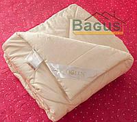 Одеяло с наполнителем 100% шерсть 220Х240 летнее в жаккардовом дамаске IGLEN 220240511