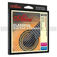 Струны концертные для классической гитары Alice AC132H нейлон/серебро