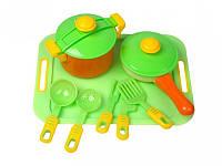 Набор игрушечной посуды с подносом Kinderway 04-427, 11 предметов