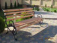 Лавка садово паркова металическая №1
