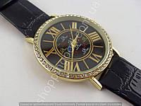 Часы Calvin Klein 013468 женские золотистые на черном циферблате