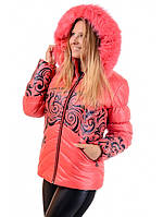 Зимняя женская куртка коралл