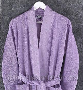 Бамбуковый халат Ladik Jessi  v1 сиреневый  L