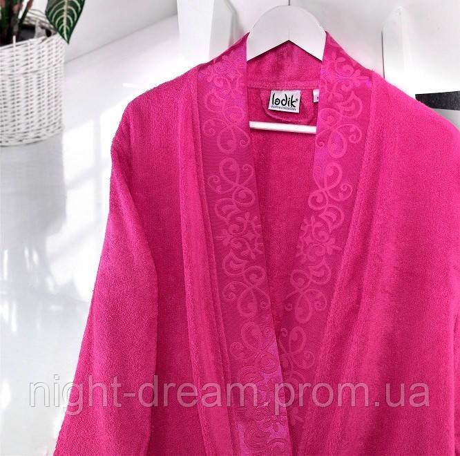 Бамбуковый халат Ladik Jessi  v4 малиновый M