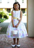 Нарядное цветочное платье на девочку 2-12 лет (2 цвета)