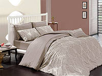 Комплект постельного белья First choice  Vip Сатин Жаккард SVip 32 Prestige Damask Vizon