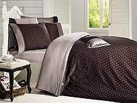 Комплект постельного белья First choice  Vip Сатин Жаккард SVip 29 Prestige Kahve